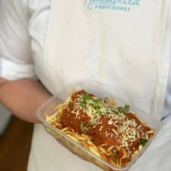 Beef Meatballs In Napoli Sauce With Linguine Pasta